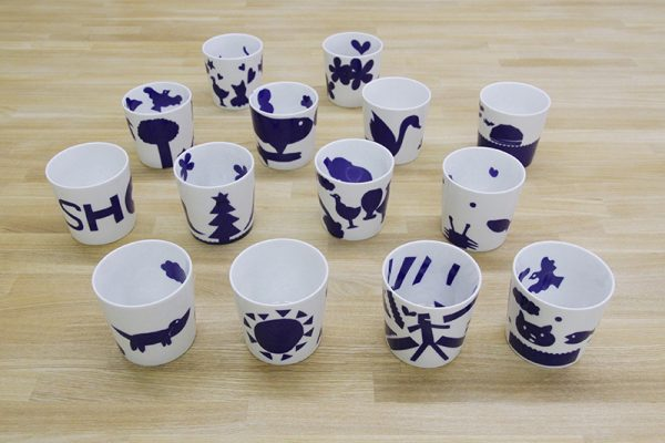 キッズ・ワークショップでつくったカップをご紹介します