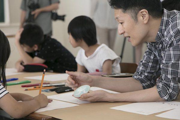 7.12福島県浪江町立なみえ創成小・中学校での豆皿ワークショップレポート